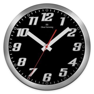 Oliver Hemming Duplex Chrome Steel Wall Clock in Black