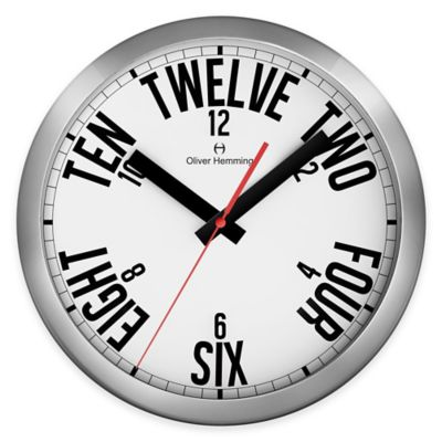 Oliver Hemming Duplex Wall Clock in Chrome