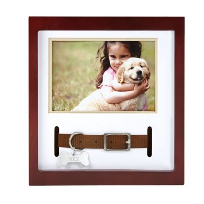 Pearhead 4-Inch x 6-Inch Decorative Pet Collar Frame in Espresso