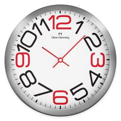 Oliver Hemming Duplex Large Number Wall Clock in Chrome