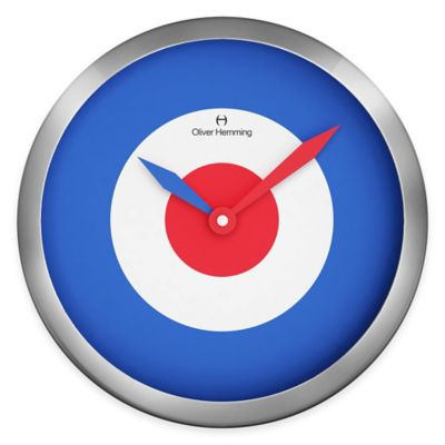 Oliver Hemming Duplex Bullseye Wall Clock in Chrome