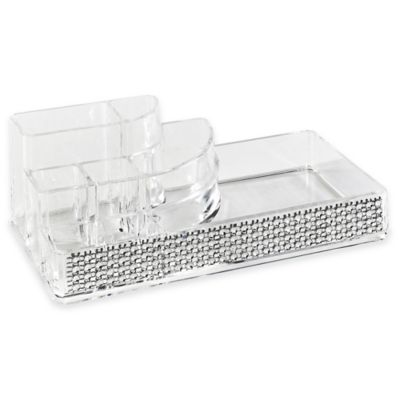 Laura Ashley® Imitation Pave Diamond 8-Section Cosmetic and Jewelry Holder
