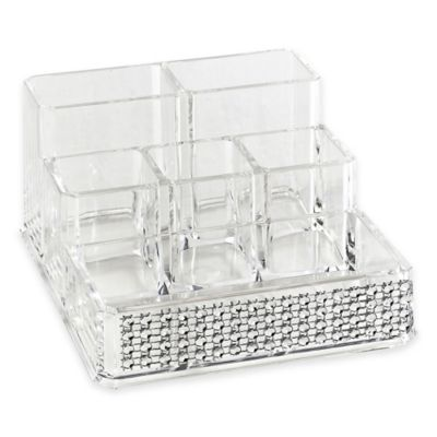 Laura Ashley® Imitation Pave Diamond 6-Section Cosmetic and Jewelry Holder