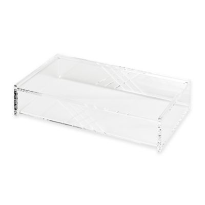 Acrylic Cross Line Etched Box in Clear
