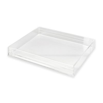 Acrylic Line Etched Letter Tray in Clear