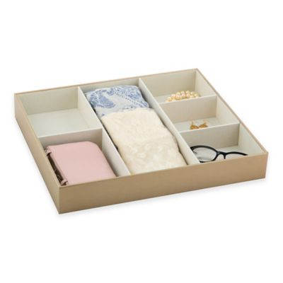 Ampersand® 6-Section Drawer Organizer in Gold