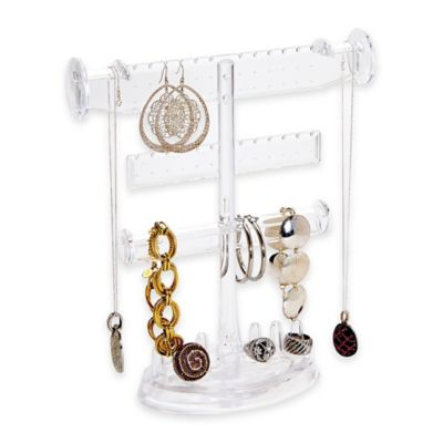 3-Tier Jewelry Holder with Ring Base