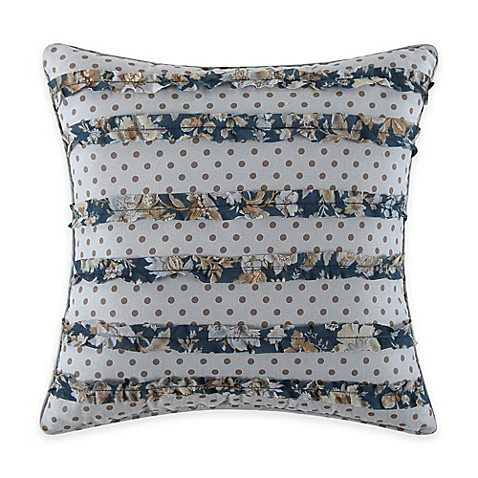 Salisbury Square Throw Pillow in Blue - Bed Bath & Beyond