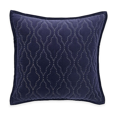Hotel embroidery square throw pillow in blue bed bath for Hotel pillows for sale philippines