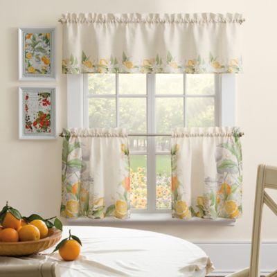 The New York Botanical Garden Orange da Luna 24-Inch Window Curtain Tier Pair