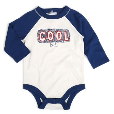 "Kidtopia Size 3M ""Cool Kid"" Long Sleeve Raglan Bodysuit"