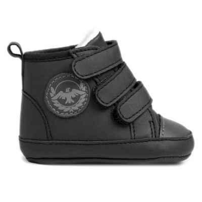 Rising Star™ Size 9-12M Leather Sherpa-Lined High-Top Sneaker in Black