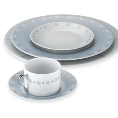 Philippe Deshoulieres Baltik Blue and White 5-Piece Place Setting