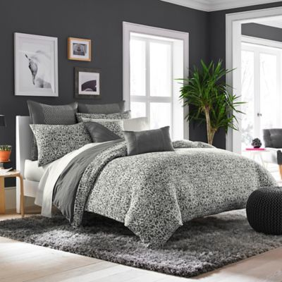 Croscill® Bennet Reversible King Duvet Cover in Slate