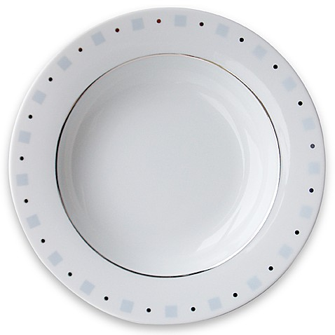 Philippe Deshoulieres Baltik Blue and White 9 1/2-Inch Salad Plate