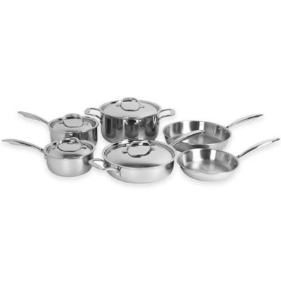 Oneida® Stainless Steel Tri-Ply 10-Piece Cookware Set