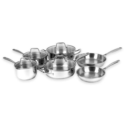 Oneida Stainless Steel Tri-Ply 10-Piece Cookware Set