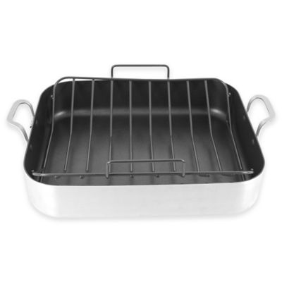 Oneida Aluminum Nonstick 16.5-Inch x 13.5-Inch Roaster with Nonstick U-Rack