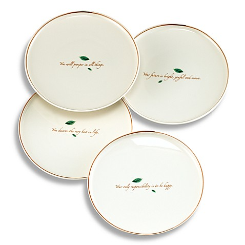 Tea Leaves 8 1/2-Inch Dessert Plate (Set of 4)