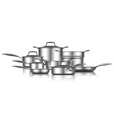 ZWILLING® Energy 12-Piece Ceramic-Coated Stainless Steel Cookware Set