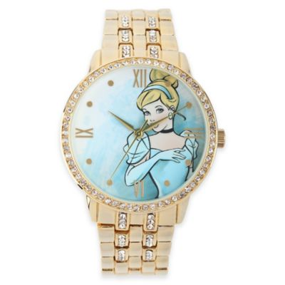 Disney® Cinderella Ladies' 40mm Cubic Zirconia-Accented Goldtone Bracelet Watch
