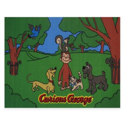Fun Rugs® Curious George & Friends 1-Foot 7-Inch x 2-Foot 5-Inch Accent Rug