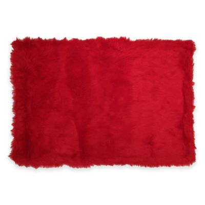 Fun Rugs® Flokati 3-Foot 3-Inch x 4-Foot 10-Inch Shag Rug in Red