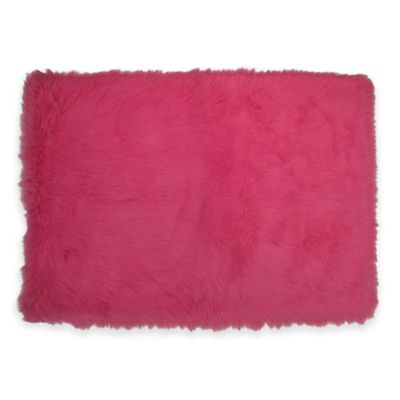 Fun Rugs® Flokati 2-Foot 7-Inch x 3-Foot 11-Inch Shag Rug in Hot Pink