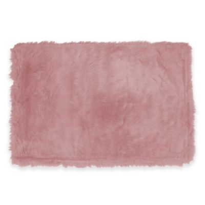 Fun Rugs 2-Foot 7-Inch x 3-Foot 11-Inch Flokati Rug in Light Pink