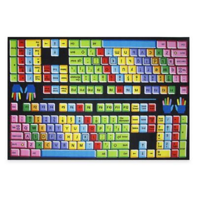 Fun Rugs® Keyboard 4-Foot x 6-Foot Area Rug