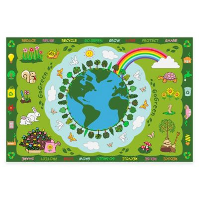 Fun Rugs™ Go Green 3-Foot 3-Inch x 4-Foot 10-Inch Accent Rug