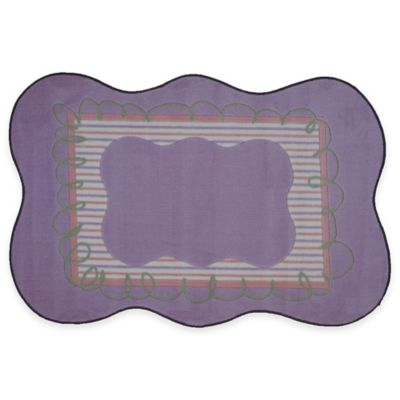Fun Rugs™ Girls Scalloped 3-Foot 3-Inch x 4-Foot 10-Inch Accent Rug in Purple