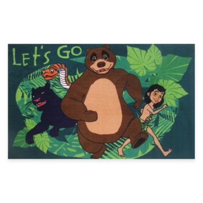 "Room Decor > Fun Rugs® Jungle Book ""Let's Go"" 4-Foot 10-Inch x 3-Foot 3-Inch Area Rug"