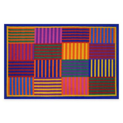 Fun Rugs™ Rainbow Stripes4-Foot 10-Inch x 3-Foot 3-Inch Area Rug