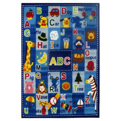 Fun Rugs™ Fun Time Letters and Names 4-Foot 10-Inch x 3-Foot 3-Inch Rug