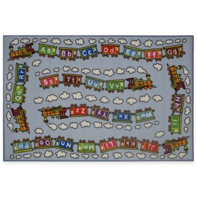 Fun Rugs™ Fun Time Edu Train 4-Foot 10-Inch x 3-Foot 3-Inch Rug