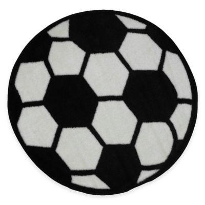 Fun Rugs™ Fun Time 3-Foot 3-Inch Round Soccer Ball Rug