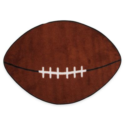 Fun Rugs™ Fun Time 3-Foot 9-Inch x 2-Foot 4-Inch Football-Shaped Rug
