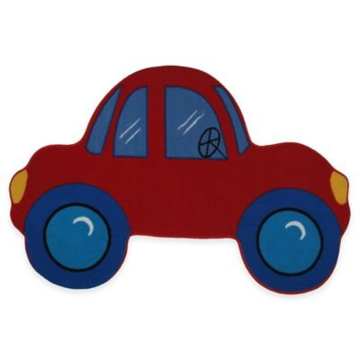Fun Rugs™ Fun Time Car-Shaped 4-Foot 10-Inch x 3-Foot 3-Inch Rug