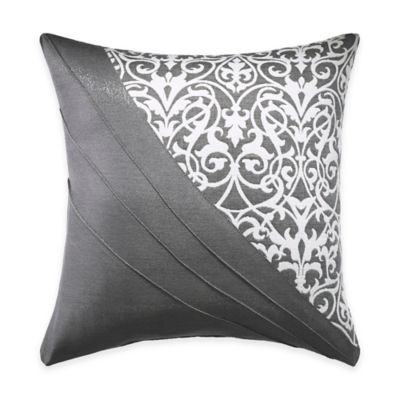 Croscill® Bennet Square Throw Pillow in Slate