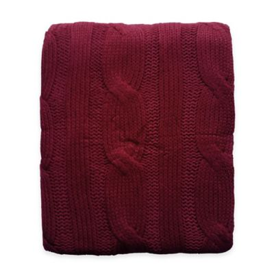 Burgundy Throws