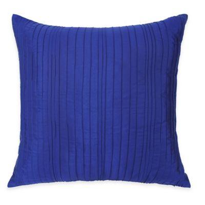 Kyra European Pillow Sham in Blue/White
