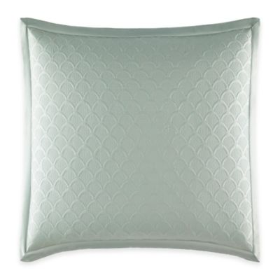 Catherine Malandrino Jade European Coverlet Pillow Sham in Seafoam