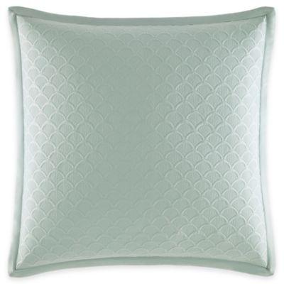 Catherine Malandrino Jade European Coverlet Pillow Sham in Seafoam