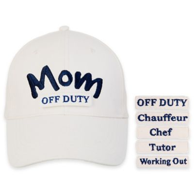 countdowncaps™ 5-in-1 Mom Cap in Beige/Blue