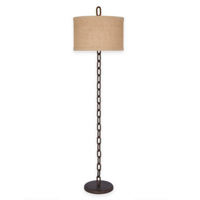 Fangio Lighting Floor Lamp in Brown