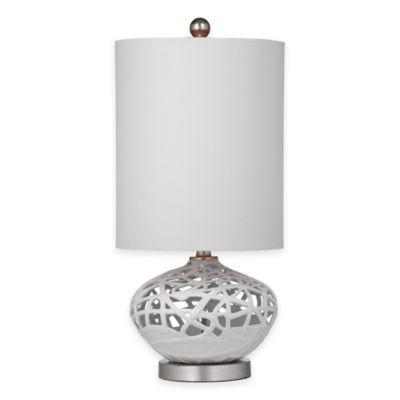 Bassett Mirror Company Lennox Table Lamp in White