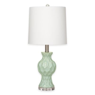 Bassett Mirror Company Staley Table Lamp in Aqua Blue