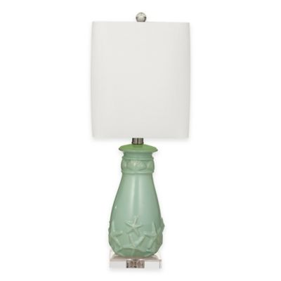 Bassett Mirror Company Surry Table Lamp in Mint
