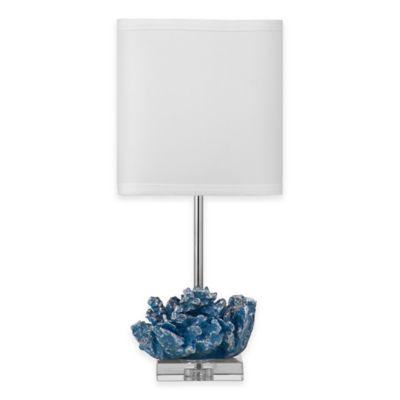 Bassett Mirror Company Pacificia Table Lamp in Blue/Silver